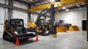 John Deere equipment was proudly displayed in the new service bays.