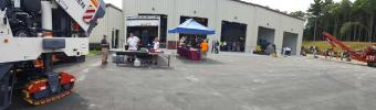 Guests gathered both inside and out at Schmidt Equipment's open house.