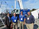 (L-R): Lorenzo Landi came all the way from Italy to see the 2017 ICUEE show and stop by the Tadano Mantis Corp. booth and to speak with Greg Etue, Tadano Mantis; Ed Hisrich, vice president of sales, Tadano Mantis; and Mark Dehnert of Howell Tractor and Equipment Co.