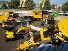 A nice array of all the newest models from JCB were on display in the ICUEE demo lot.