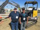 Volvo's Andy Capps (L) joined Rob Ekno, who officiated at the show's Volvo rodeo competition.
