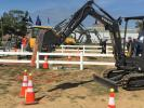 Equipment rodeos and other operator contests were pervasive at ICUEE. Here, Volvo lets operators test their skills in compact excavators.