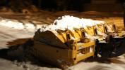 """To achieve a cleaner scrape and minimize salt and sand usage choose a blade that features several independent sections along its length. These sections """"float"""" along the surface; as the operator moves the carrier the sections raise or lower to follow the height of the pavement, leaving little to no snow left on the surface."""