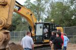 The Cat 323 also drew a large crowd.