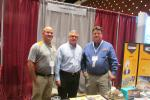 Fred Vilsmeier (C) of Ritchie Bros. meets up with David Manwiller (L) and Ben Polesir, both territory sales managers of Company Wrench.