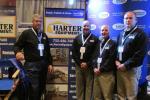 Millstone, N.J.'s Harter Equipment was represented (L-R) by Steve Pedrani; Vic Riga, vice president of sales; Dick Clark and Matthew Sams, both equipment sales representatives.
