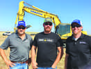 (L-R) are Clayton Shively, sales of Berry Tractor; Ralph Rogge of Rogge Excavating; and Jesse Coleman, PSSR, Berry Tractor.
