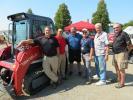 (L-R) are Jeff Vodnik and Paul Wade, both of Takeuchi; Sal Fasano, Kubinski Excavating; Steve Costello, McCann Industries; Richard Kubinski, owner of Kubinski; and Rich Hoffmeyer, McCann Industries.