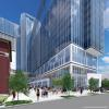 A rendering of the completed Coda at Tech Square. (Portman & Associates rendering)