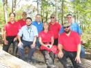 (L-R) are Kyle Kovach, Steve Yolitz and Tanner Huskins, all of Komatsu; Andy Moon, Power Equipment; Linda Williams, Jim Williams and Steve Schrader, all of Komatsu; and Chris Gaylor, president of Power Equipment Company.