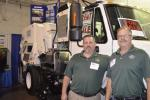 J & J Equipment's Rick Zerrillo (L) and Scott Leavery are proud to represent Tymco sweepers.