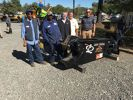 (L-R): Eddie Walkup and Bernard Smith, both of Southern Metals in Charlotte; Dave Reed and John Coale, both of LaBounty; and Christian Billotto of Company Wrench discuss the LaBounty MSD 1000R scrap shear.