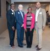 (L – R) Ken McIntyre, Interim Executive Director, Project REAP; REAP founder, Mike Bush; Associate Program Director, REAP, Osayamen Bartholomew; G. Lamont Blackstone, REAP board chair.
