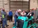 After lunch was provided by King of Prussia Equipment to attendees, Sullivan provided a hands-on demonstration of the new STX6H and each technician had to calibrate the rider.