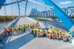 Kraemer North America crews started work on the project — to build and then demolish the existing bridge — in January 2016 and is scheduled to finish the project on May 31, 2018.  (Kraemer North America photo)