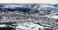 The iron ore mine is so important that Kiruna is moving the whole city center to allow mining activities to continue and expand.