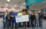 The proceeds from the 3rd Annual ABC YPG Charity Bowling Tournament were presented to representatives of the Granite United Way. (ABC YPG photo)