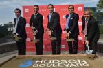 Gov. Andrew M. Cuomo (C) joins the Moinian team as they break ground for 3 Hudson Boulevard on Manhattan's West Side. (Kevin P. Coughlin/Office of the Governor photo)