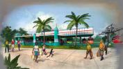A rendering of the Disney Skyliner gondola system.
