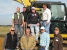 A big group from C.W. Matthews Contracting, based in Marietta, Ga., stopped by the event. (L-R, top) are Jeff Ensell,  C.W. Matthews, Scott Hagemann, Caterpillar, and Randall Cosby and Trent Plott, both of  C.W. Matthews.  (L-R, bottom) are Will Stevenson, Kevin Robinson and Ryan Veech, all of C.W. Matthews, and the company's Yancey Bros. Co. representative, Kevin Lane.