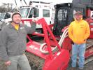 Richard Murphy (L) and Shane Reynolds, both of Expert Tree Service, Adairsville, Ga., were impressed with the condition of this 2013 Fecon FTX100.