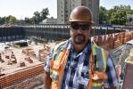 """""""This is not just a construction project. It's a very personal connection for our workers,"""" said Jamal Nelson, project supervisor."""