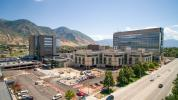 The Utah Valley Hospital project is funded through bonds (50 percent), patient revenue (40 percent) and philanthropy (10 percent). (Utah Valley Hospital photo)