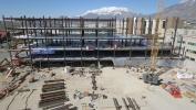 The project has required heavy use of construction materials. The Pedersen Tower foundation is 48 in. thick and required 4,530 cu. yds. of concrete to complete. (Utah Valley Hospital photo)