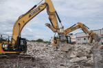 Concrete that was removed from the existing buildings that were demolished was recycled back into the project.