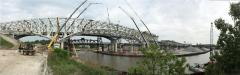 The demolition of the bridge, which spans the Cuyahoga River, is critical for the rebuilding of a new bridge on the same site — The George V. Voinovich Bridge.