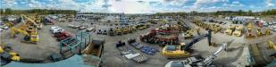 This panoramic view gives some idea of the scope of the Tracey Road Equipment Syracuse operation.