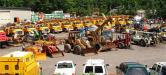 The sale lot was full with equipment from utility companies, municipalities, contractors and others.