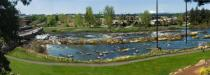 Work is underway on a $9.7 million project that will include restoration of a dam, construction of a pedestrian/cyclist bridge and for the first time in Oregon, the manmade sculpting of a white water course.
