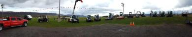 Bobcat equipment line up.