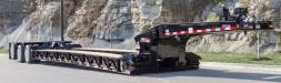 Among the products featured at Thompson Truck Centers are the Signature Series 55-ton (49.9 t) hydraulic detach, the Rock Hauler Series and the 2060 Series of bottom dump trailers.