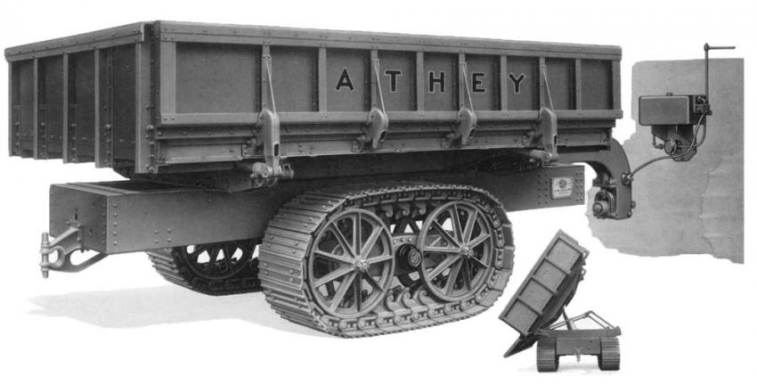 Athey Forged-Trak 2-Way dump trailer.