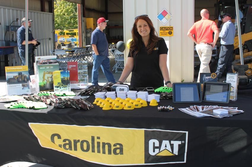 Nikki Maple of Carolina Cat's marketing department, welcomed and registered guests for the event.