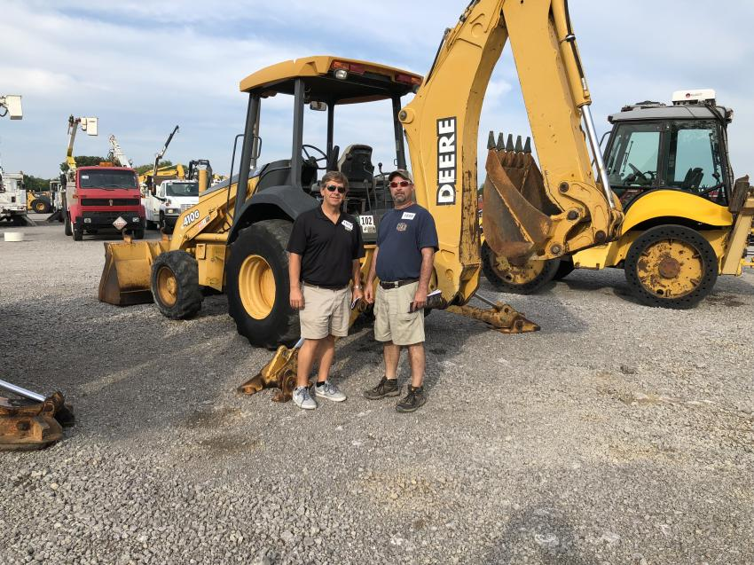 David Moore (L) and Jeremy Bradley, both of Construction Equipment Sales and Rental / Yellow Iron Wholesalers Inc. in Jackson, Tenn.