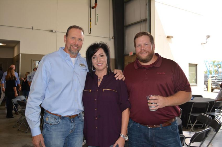 (L-R) are ASCO's Belton, Texas, branch manager Spencer Ridgway, his wife, Kristina, and Josh Tubbs, a sales representative of the Belton branch.