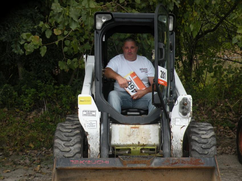 Peter Densen of P. Densen Equipment and Supply gives this Bobcat 630 skid steer a test.