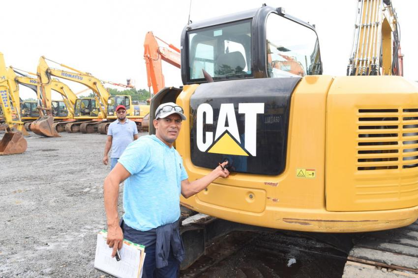 Pedro Palmer, owner of Pedro Palmer Construction, Philadelphia, Pa., is looking to bid on several different Cat excavators.