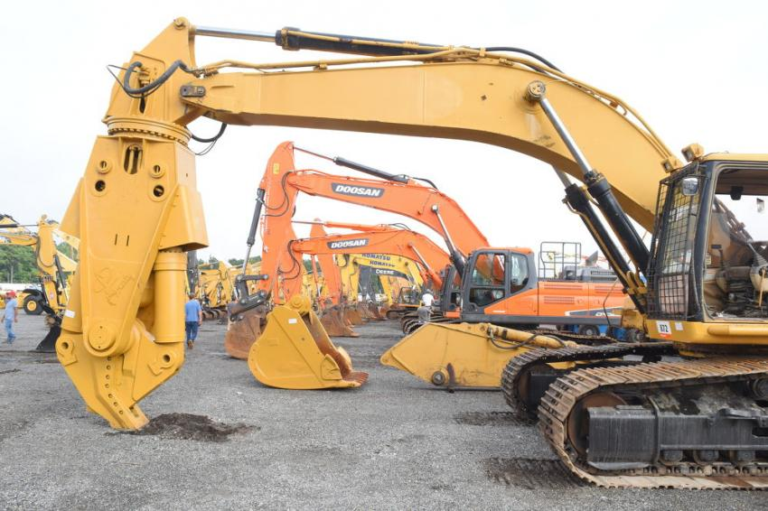 More than 90 excavators went on the auction block in North East, Md.