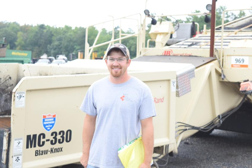 Logan Fair, owner of 105 Excavating, Waynesboro, Pa., is looking for variety of machines at the auction.