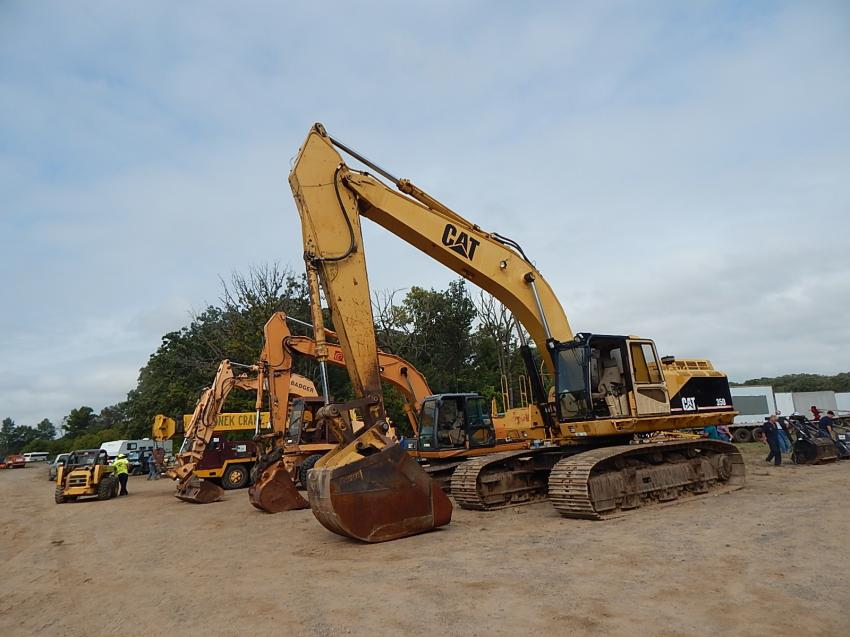 A large row of excavators drew interest from 