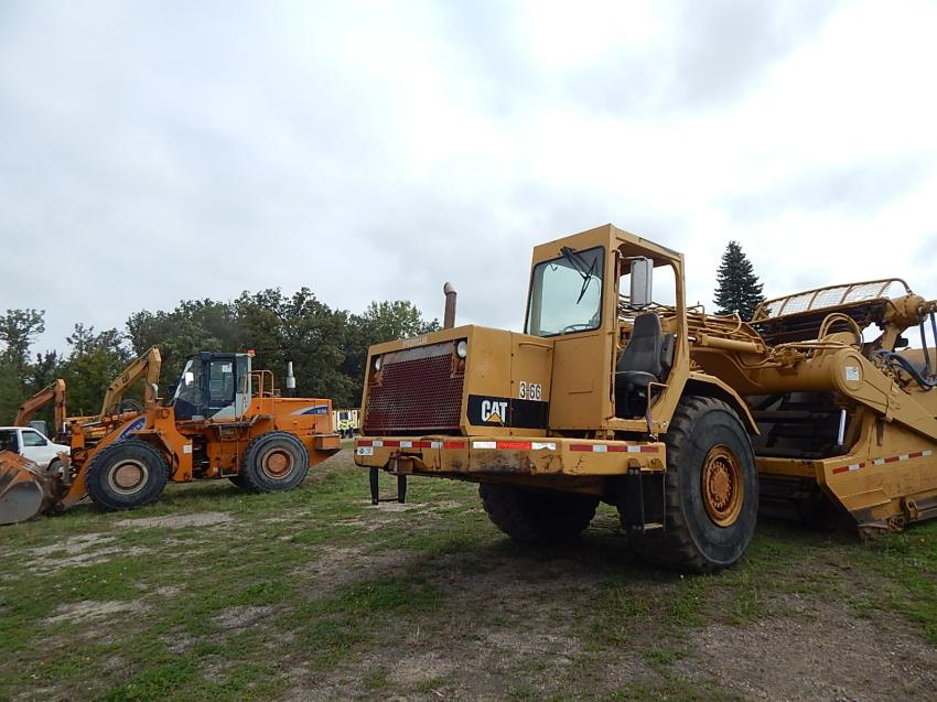 Large Cat scrapers, wheel loaders, skid steers and excavators, along with many types of attachments, trucks and generators gave bidders plenty to choose from.