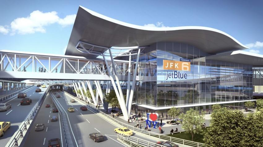 On the airport's north side, the proposed new $3 billion, 1.2 million sq. ft. terminal will be developed by JetBlue. (Gov. Cuomo's Office photo)