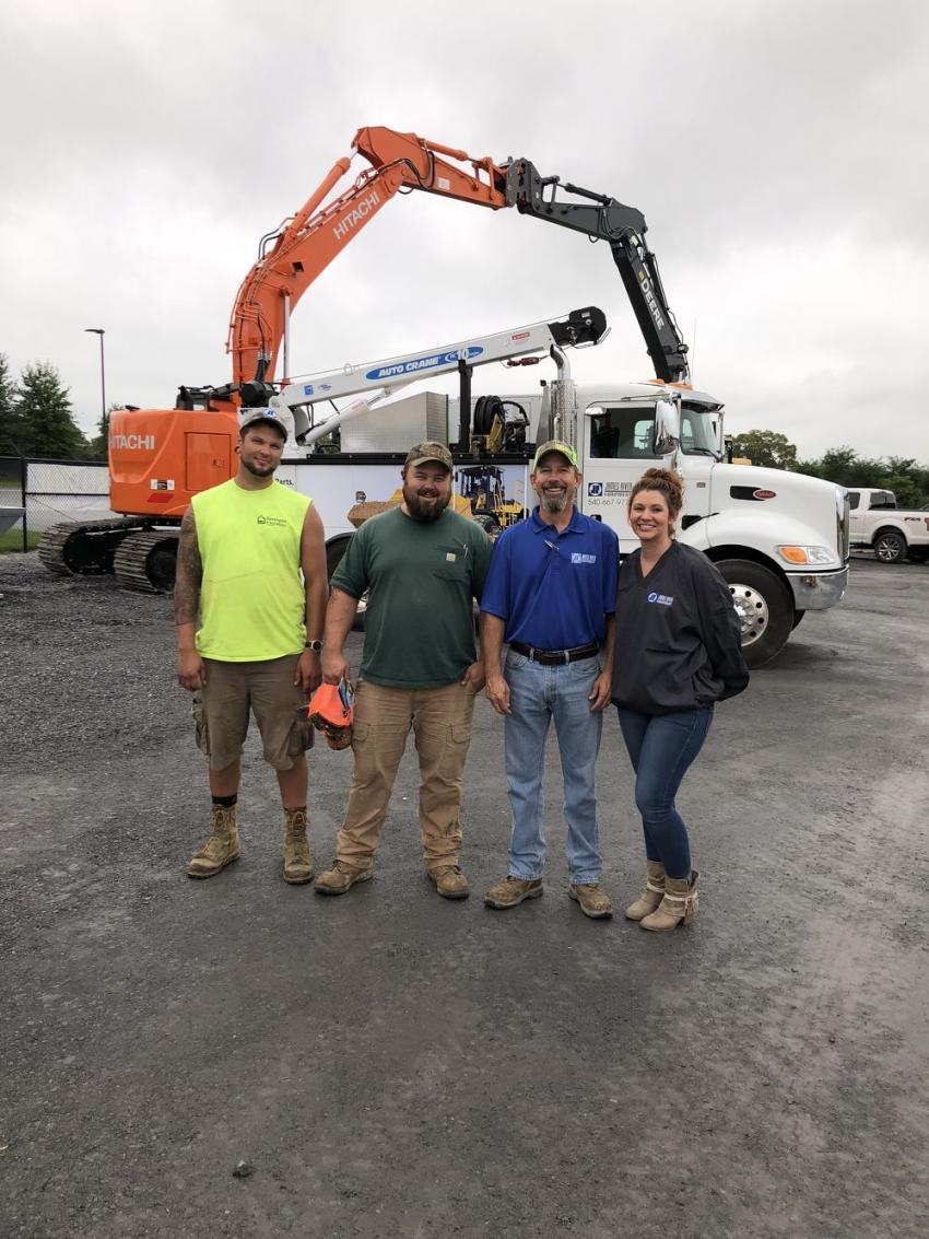 (L-R): Matt Ryan and Joe Canterbury, both of C.S. Jennings, Winchester, Va., and Jay Hutcheson and Katelyn Marshall, both of James River Equipment.