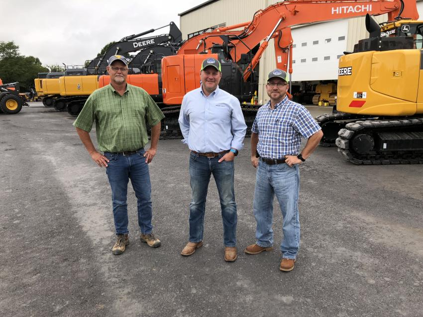 (L-R): Mike Adamy, William Aikens and Danny Lyons, all of H&W Construction in Winchester, Va.
