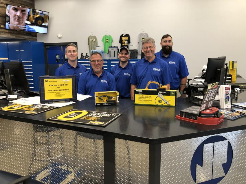 On hand to serve customers' parts needs (L-R) are Mike Shannon, Larry Boyce, Steven McMinn, Benny Frye and Lucas Hott.