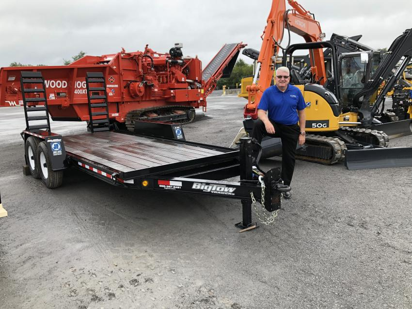Alan Craft of Big Tow Trailers discussed his company's 6-ton model trailer, which is perfect to haul mini-excavators and skid steer loaders.